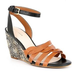 NIB Cole Haan leather wedge sandals